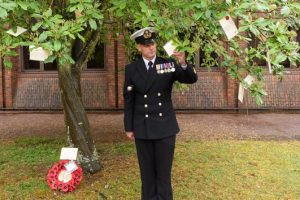 HMS Collingwood pauses to remember wartime bombing